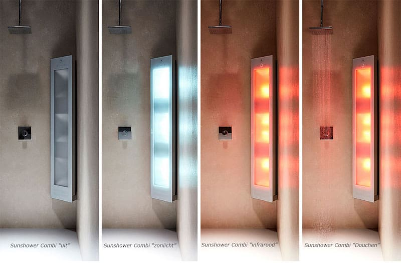 Infrarood douche met UV-licht (© Sunshower)