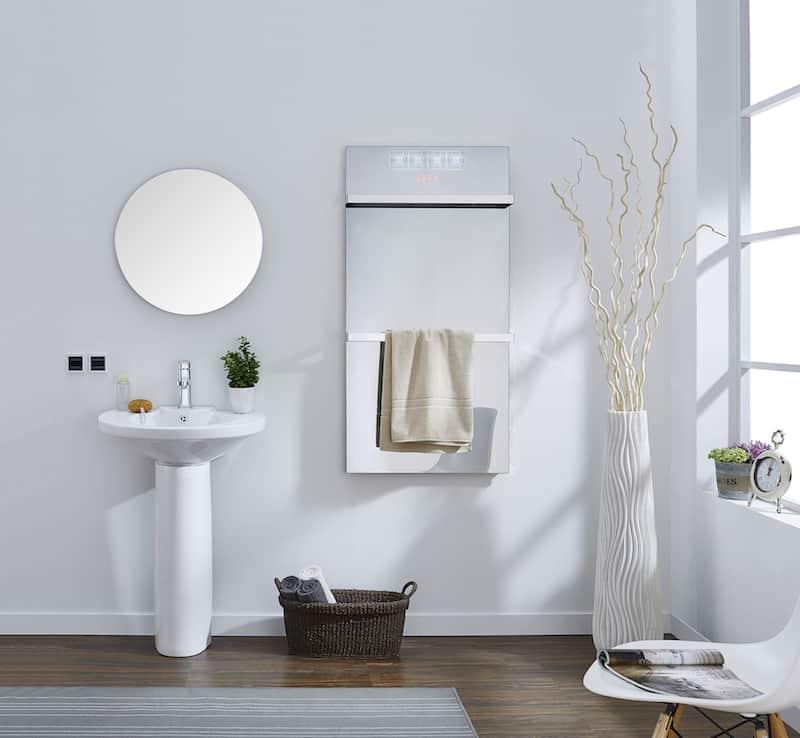 Infrarood paneel in de badkamer © Infralia