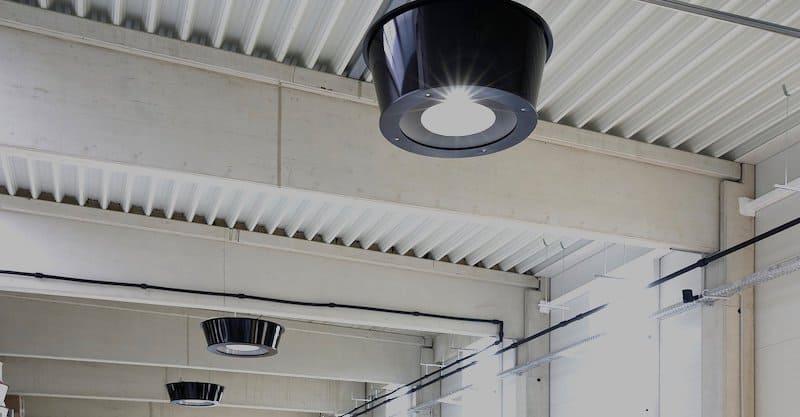 Infrarood verwarming met ingebouwde LED verlichting