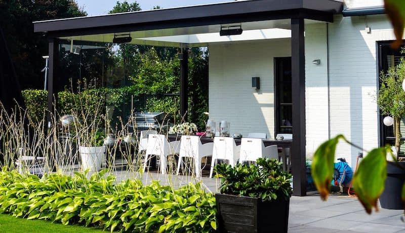 Infrarood verwarming in veranda / terrasoverkapping