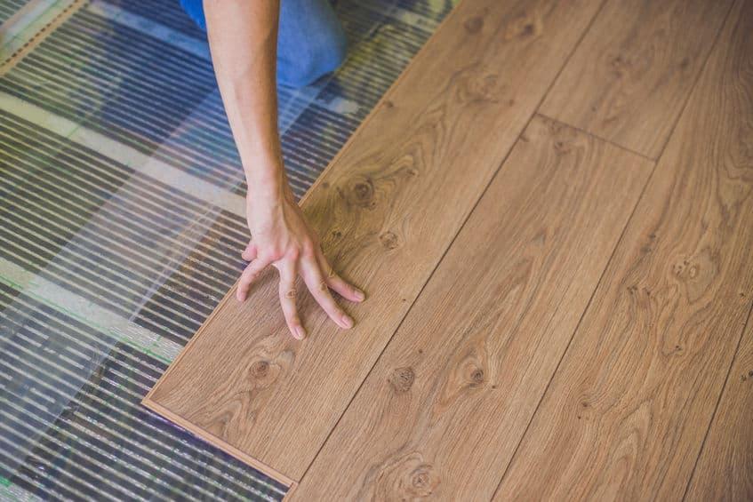 Infrarood vloerverwarming met parket © Electric Comfort