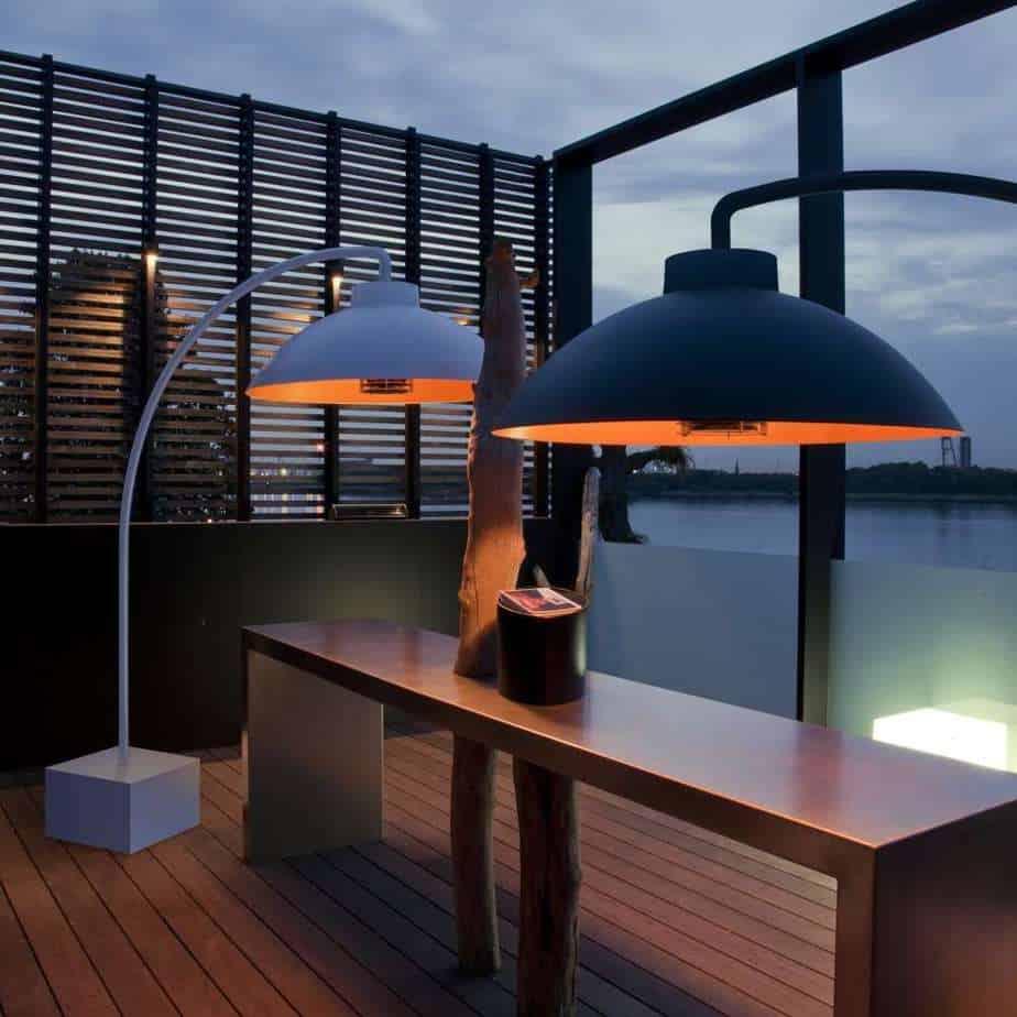 Losstaande infrarood terrasverwarming lampen © LM30 Lifestyle