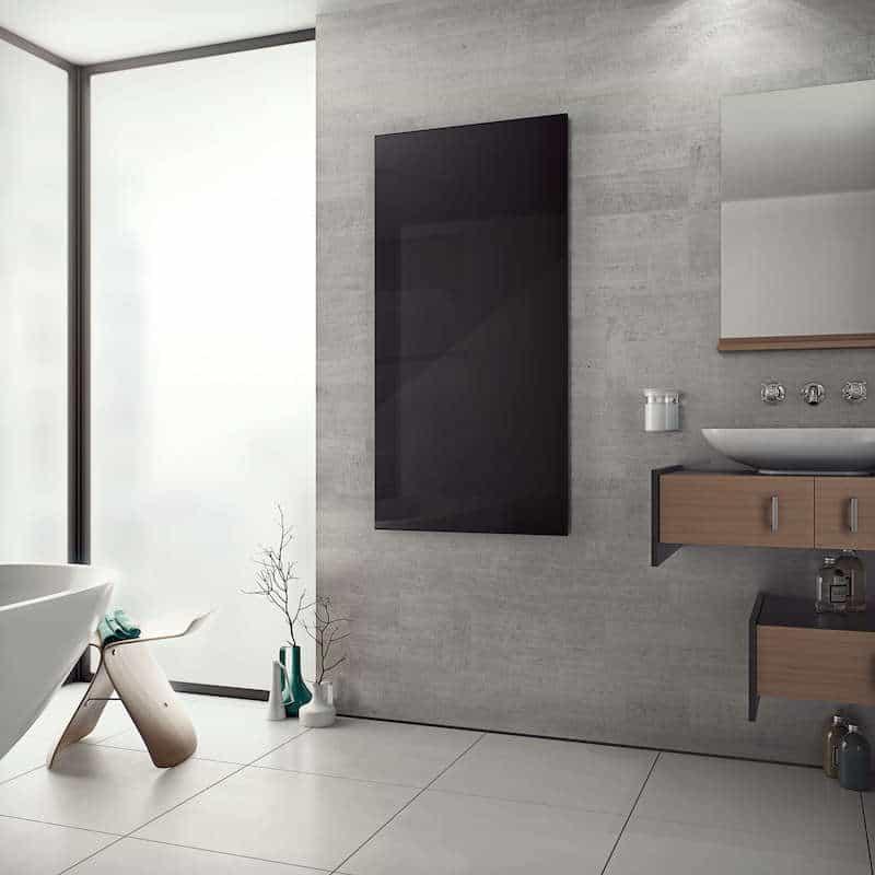 Zwarte infrarood radiator © The Designer Radiator Company